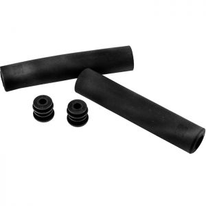 M:Part Silicone grips with non slip compound, 140 x 30mm - black