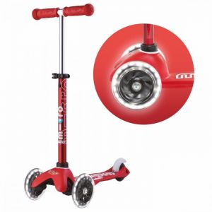 Micro Mini Deluxe LED Scooter - Red