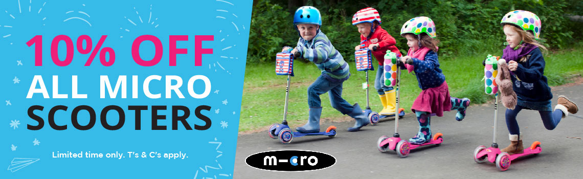 10% micro scooters